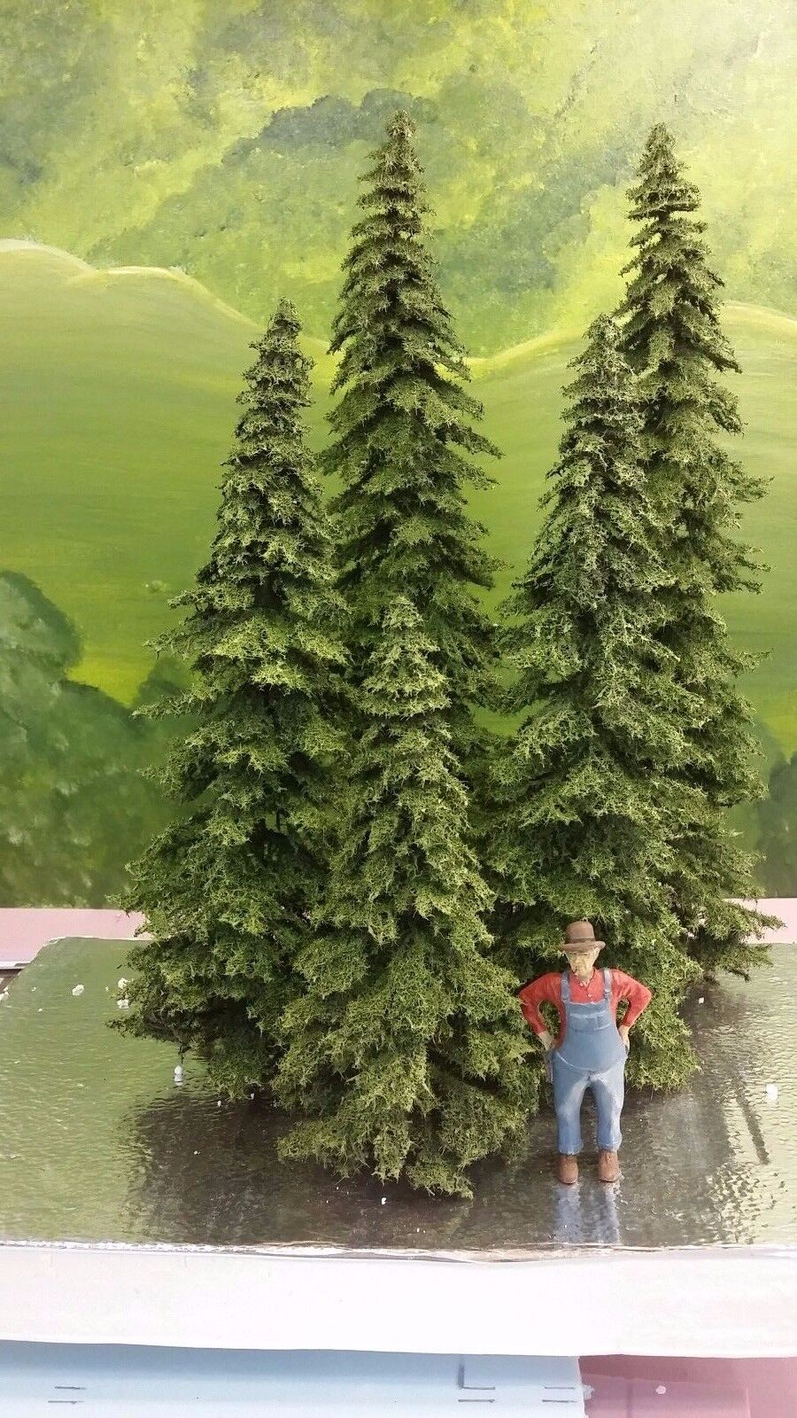 Spruce Trees for  model railroad and doll house  2 -12  2-15  and 2-20