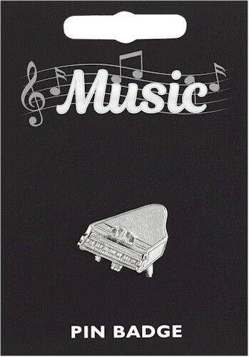 Quality Pewter Pin Badge Piano