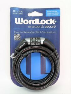 179cae3d7867 Details about Wordlock Word Combination Flexible Steel Cable bike lock 4 ft  x .32 in (BLACK)