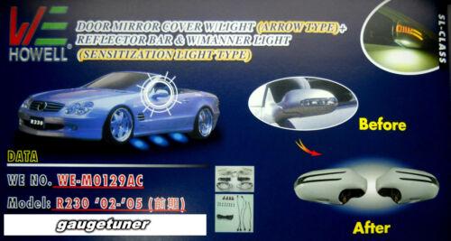 Mercedes R230 SL-Class 02-04 Eariler//05 SILVER Arrow Type LED Side Mirror Cover