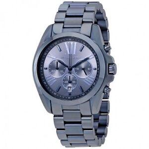 NEW-Michael-Kors-Oversized-Bradshaw-Blue-Dial-Stainless-Steel-Men-039-s-Watch-MK6248