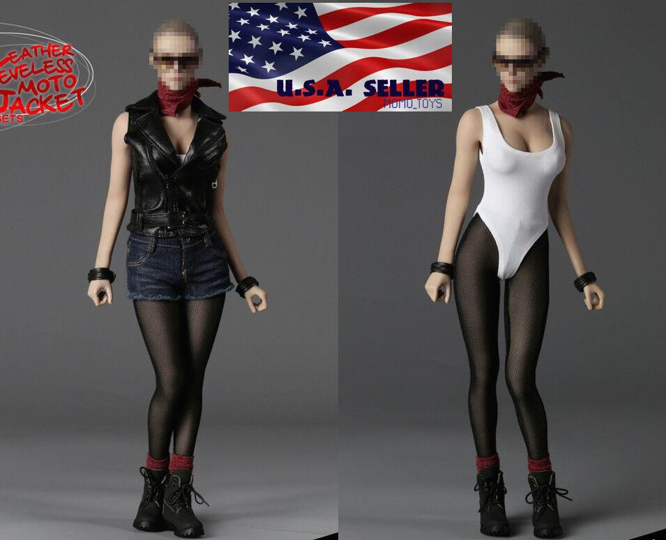 1   6 - motorrad - weste jeans für 12  phicen heißes spielzeug weiblichen figur, usa