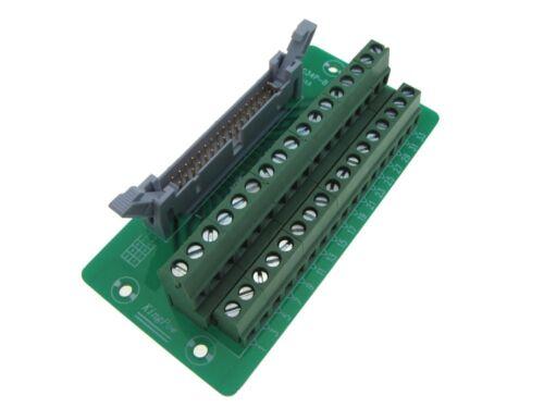 IDC34 34-Pin Connector Signals Breakout Board Screw terminals Din