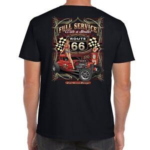 Mens-Hotrod-58-T-Shirt-Hot-Rod-Service-American-Garage-Rat-Vintage-Classic-19
