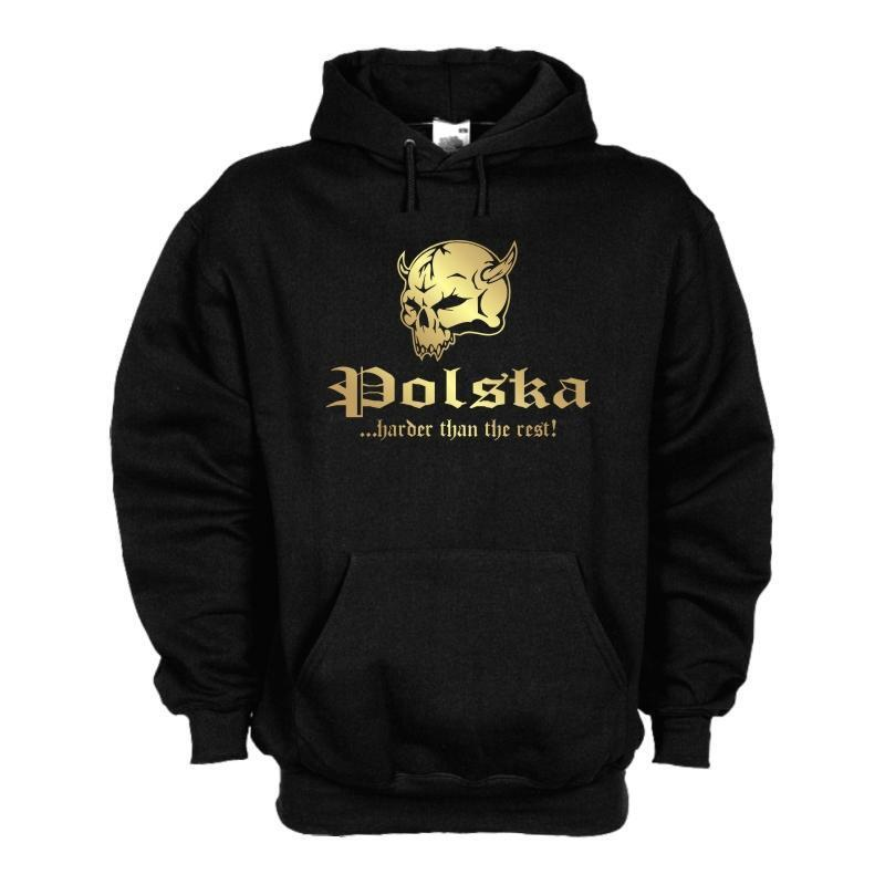 Kapuzenpulli POLEN Polska harder than the rest Hoodie Kapuzen Sweat (WMS05-48d) | Umweltfreundlich