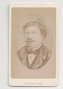 Vintage-CDV-Unkown-Second-Empire-French-Man-Mustache-A-D-Braun-Photo