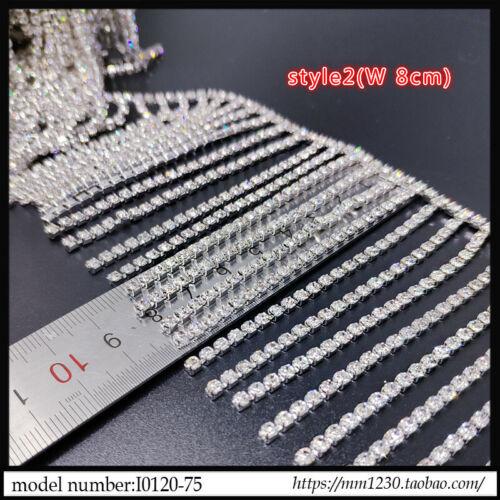 Bling Crystal Rhinestone Chain DIY Fringe Tassel Diamante Trimming Sewing Craft