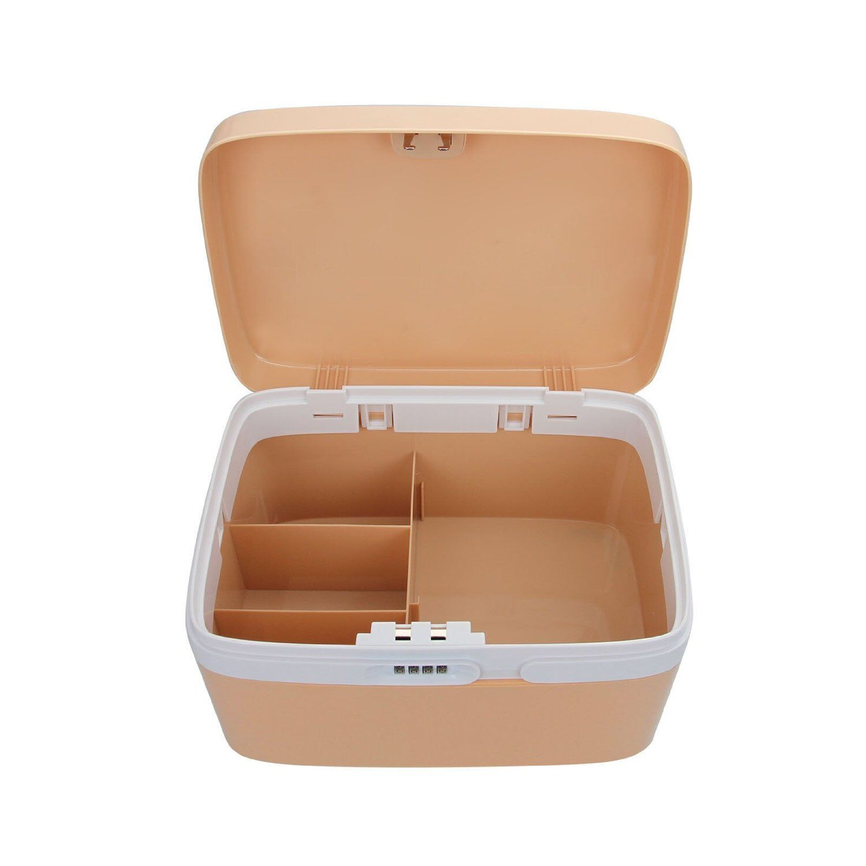 Us Stock Combination Lock Plastic Suitcases Medicine Box