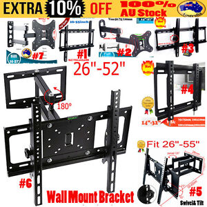 Universal-TV-Wall-Mount-Bracket-Full-Motion-Tilt-Swivel-VESA-LCD-LED-14-55-Inch