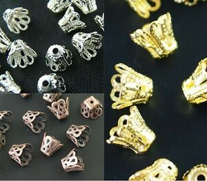 Wholesale Gold //Silver//Copper Plated Flower Bead Caps Jewelry Findings 10mm 12mm