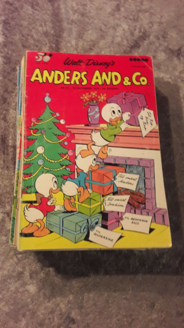 Anders and og Co, Blad, Har 41 stk Anders and blade fra…