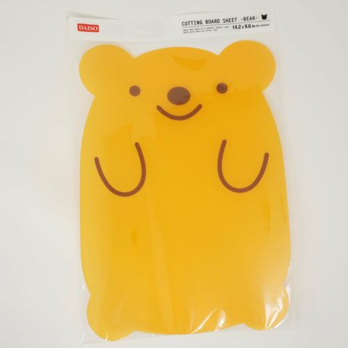 Bear Shaped Cutting Board Daiso Japan