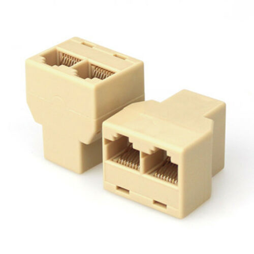 10X Ethernet Splitter Rj45 Adaptor Pc Connector Network LAN Pc Plug Cat5 6#Y