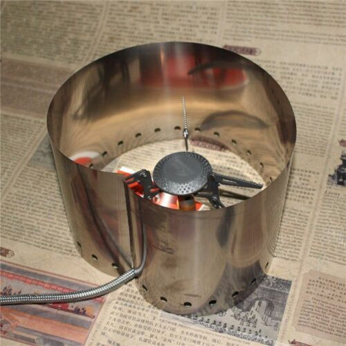 15cm Titan Herdplatte Wind Screen Windschutzscheibe Zelten Kochen Essen Brenner