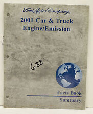 OEM 2001 Ford Car & Truck Engine/Emission Facts Book Summary P/N AD-528