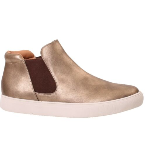 Women/'s Coconuts DOUBEL GORE HARLAN Gold Slip-on Boot Shoes