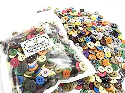 12 Plain Coloured Resin 4 Hole Buttons Size 15mm NEW COLOURS AVAILABLE