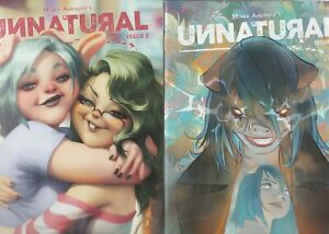 UNNATURAL 12 COMIC LOT  ALL NM   ART GERM COVER AND NUDE COVER