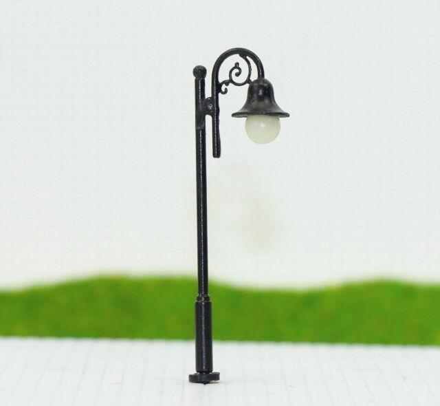 LYM38 10 Stk. LED Lampen 50mm Spur N / TT Leuchte Straßenlampen NEU
