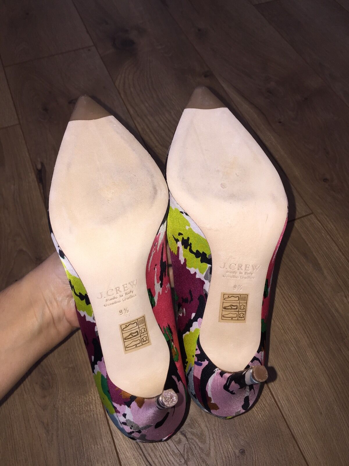 NEW JCrew JCrew JCrew COLLECTION  378 Elsie Jeweled Pumps Abstract Print 9.5 f4870 SOLD-OUT b02972