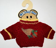Horn Plenty Fall Theme Plush Teddy Bear Knit Sweater Outfit fits 11-13 inch New