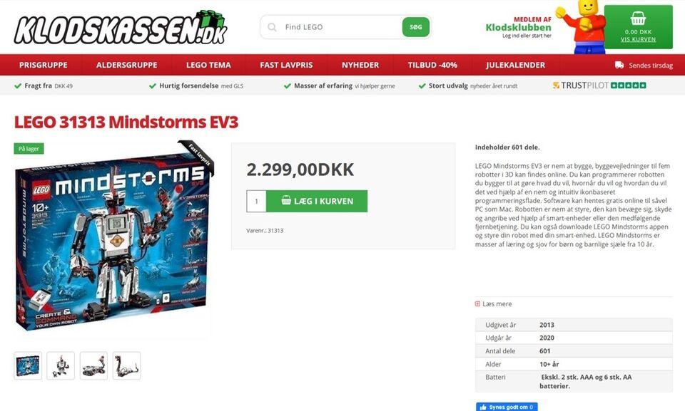 Lego Mindstorm, 31313 Mindstorms EV3