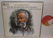 SLS 881 Tchaikovsky The Six Symphonies & Manfred USSR Sym Orc Svetlanov 7LP Box