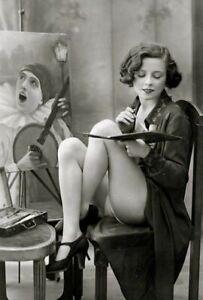 Vintage-Risque-Painter-Photo-687-Oddleys-Strange-amp-Bizarre
