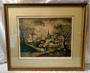 Raffy-Le-Persan-1968-Watercolor-Framed-SIGNED-Litho-Print-Numbered-Limited-87