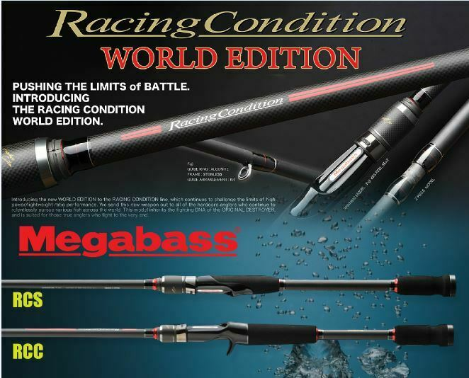 Megabass Racing condición World Edition RCS-862MH limitada Spinning Rod Japón