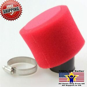 38mm-Red-Angled-Foam-Pod-Air-Filter-For-125cc-Pit-Dirt-Bike-ATV-GY6-50-Scooter