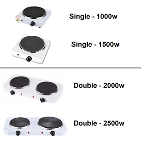 UK Portable Electric Hot Plate Cooking Hob Stove Cooker Boiling Ring 1000W//2500W