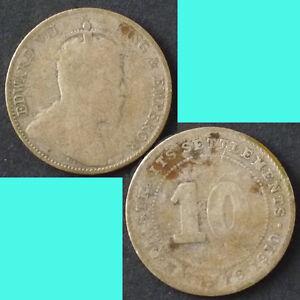Straits-Settlements-10-Cents-1910-km-21a-Silver-0-0523oz