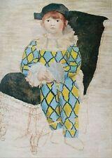 Pablo Picasso Lithograph Poster Paul en Arlequin