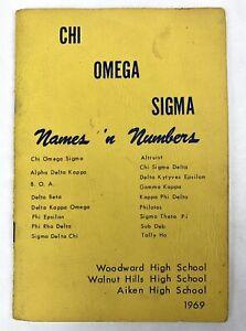 CHI OMEGA SIGMA 1969 Member Book CINCINATTI OHIO Woodward Aiken Walnut Hills HS