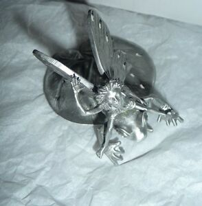 Details about Rare Pacific Giftware Silver Pewter Knick Knack Winged Fairy  & Frog Collectible