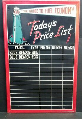 Gas Sign Advertising Blue Beacon Fuel Oil Coal Prices Light House 34 Ebay