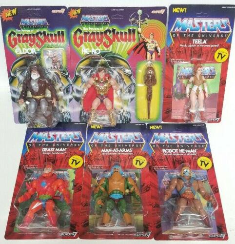 Super 7 Masters of the Universe Classics Wave 2 Set HE-RO Teela Robot He-man Eldor Beast Homme-Vintage