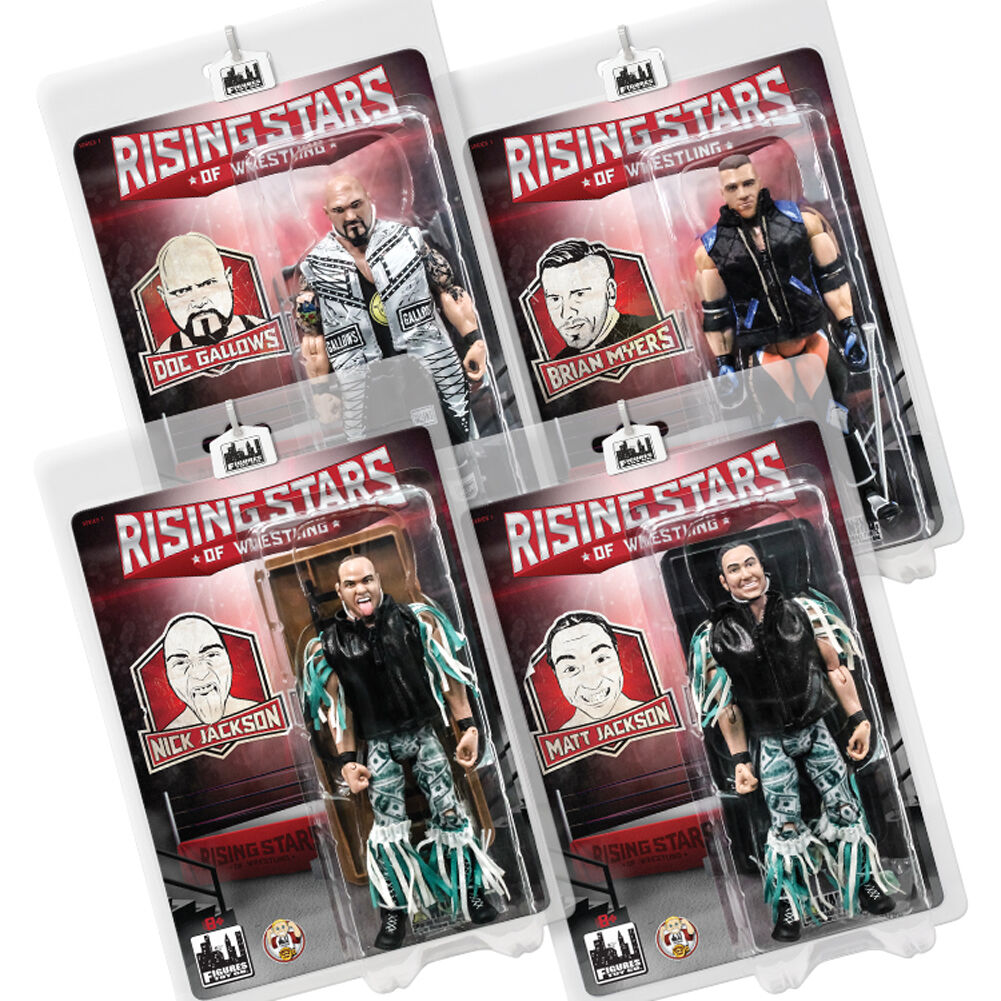 Rising Stars of Wrestling Action Figure Series 1  Set of all 4