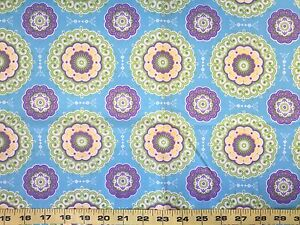 Purple Blue FQ Fat Quarter Fabric Paisley Pattern RARE 100/% Cotton Quilting