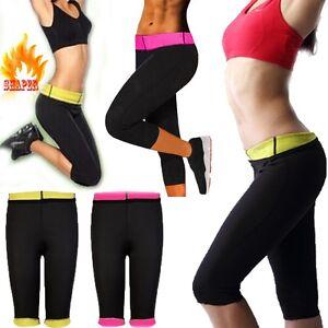 0ccfdf6a10 Women s Slimming Pants Hot Thermo Neoprene Sweat Sauna Body Shapers ...
