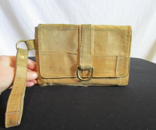 Marnie Bugs Small Tan Beige Suede & Leather Patchw