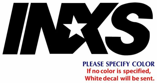 "INXS Metal Music Rock Graphic Die Cut decal sticker Car Truck Boat Window 12/"""