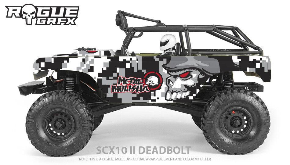 Axial SCX10 II Deadbolt Body Graphic Wrap Skin - Metal
