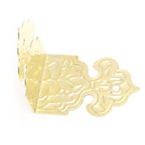 12Pcs Antique Bronze//Gold Decor Jewelry Box Wood Case Feet Leg Corner Protector