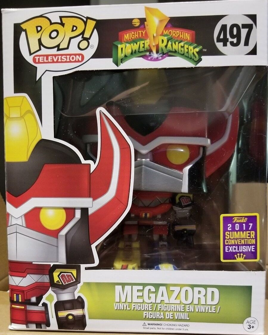 SDCC 2017 POP Mighty Morphin Megazord  497 6 inch Figure Funko