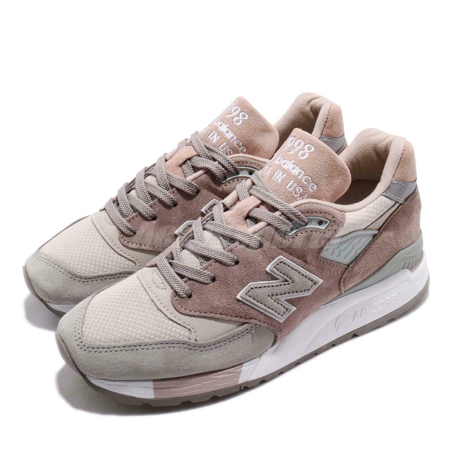 New Balance W998AWA B Made In USA Pink Grey White Women shoes Sneakers W998AWAB
