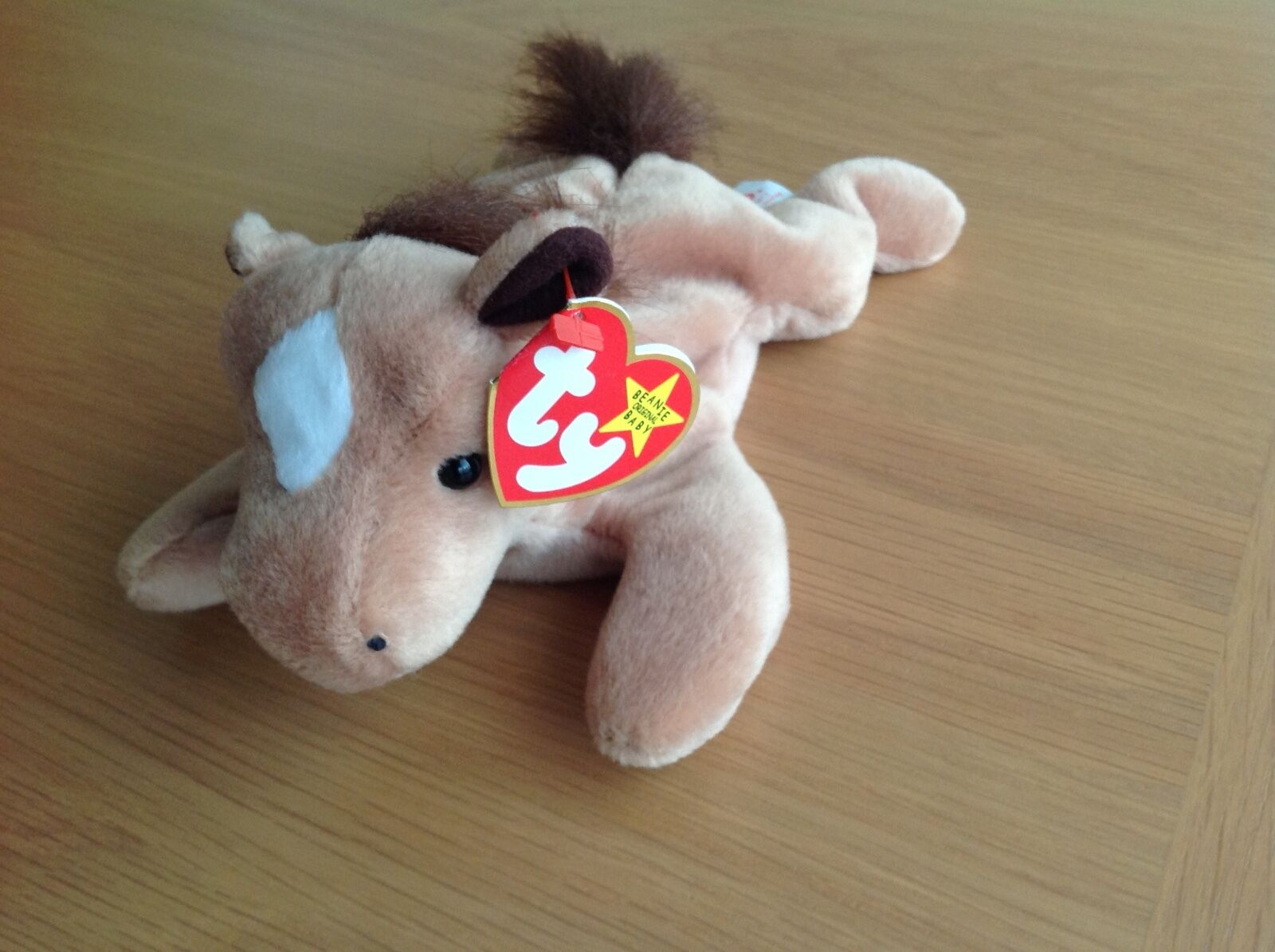 TY Beanie baby with misprint, DERBY, RARE AND COLLECTABLE.