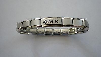 Italian Charms M.E.  ME  Medical Alert Bracelet