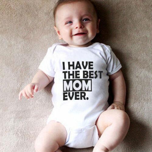 Newborn Baby Girl Boy Clothes Set Short Sleeve Romper Jumpsuit Outfits xk #t